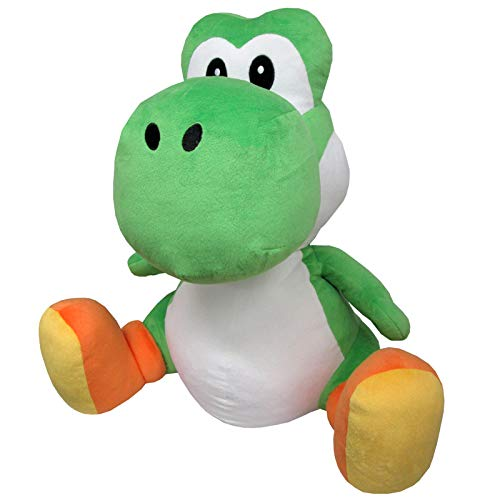 Little Buddy 1602 Super Mario All Star Collection Large Yoshi Plush, 18'