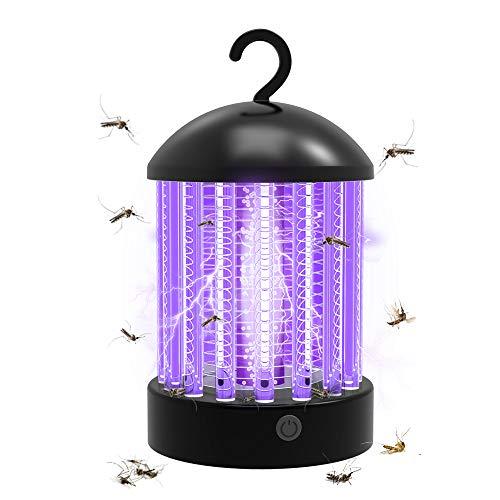 etasche Zanzariera Elettrica, Lampada Antizanzare con Batteria Ricaricabile USB, IP66 Impermeabile Lanterna Zanzare da Campeggio per Interni Esterni con Gancio a Scomparsa