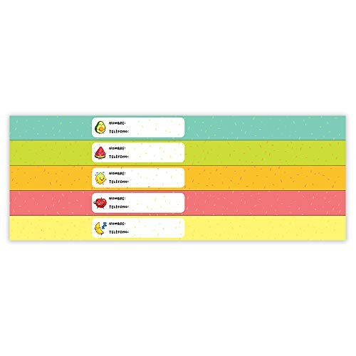 Pulsera Identificativa Para Niños Personalizable. Resistente al Agua. 5 Unidades. (Fruits)