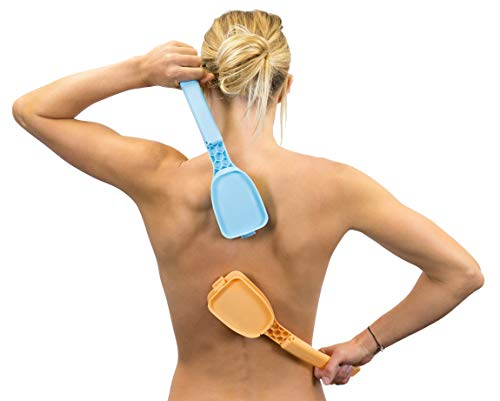 Bakslap - Back & Body Lotion Applicator - Replaceable Sponge - Peach or Blue (Sunscreen, Self Tan, Medical, Moisturizer)