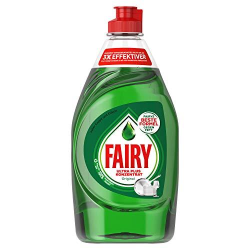 Fairy Ultra Plus concentrado Original mano de detergente para lavavajillas (Pack de 10, 10x 450g)