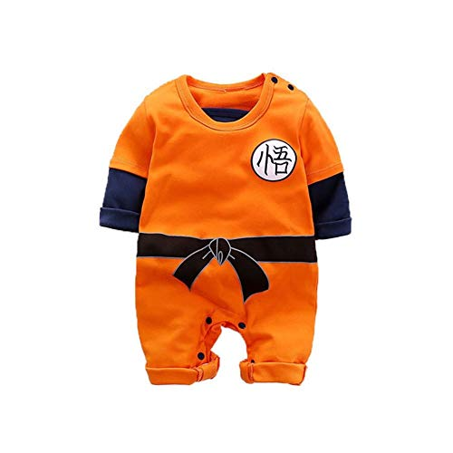 HFPTL Baby-Kleidung Neugeborene Strampler 100% Baumwolle Dragon Ball Goku Kleinkind-Säuglings Jumpsuits Fall Body Halloween-Kostüm (Farbe : Full Son Goku, Kid Size : 6M)