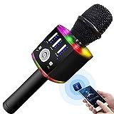 Karaoke Microphone for Kids, Wireless Bluetooth Karaoke Microphone...