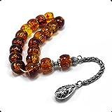 Relaxing Stress Relief Big Beads Prayer Beads, Worry Beads, EFE Tesbih, Maskot Tesbih, Tasbih, Rosary (13x10mm-17 Goldenrod Acrylic Beads)
