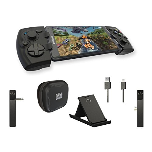 Phonejoy Bluetooth Game Controller for Android (Pro Gamer Package) - Extendable Wireless Gamepad / Joystick for Android Devices