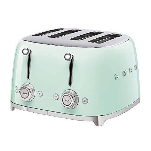 Smeg TSF03PGEU Toaster, 2000, Metall, Pastellgrün