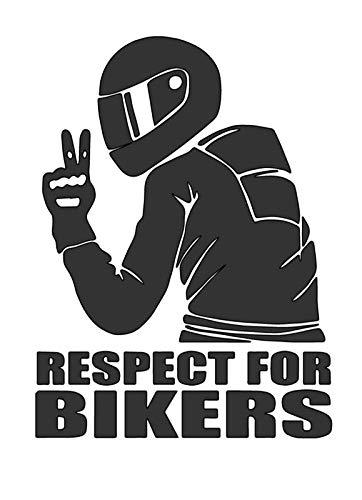 Respect for Bikers - Die Cut Vinyl Decal - 4' W X 5.5' H Matte Black HGC1921.09