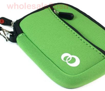 """- Green Mini Sleeve Case Pouch Bag for Seagate WD Western Digital Hitachi Samsung Kingston Patriot Corsair Intel Laptop 2.5"""" SATA IDE SSD or Mechanical Hard Drive (fits bare drive ONLY, without external enclosure) {+ 1pc name tag} -- Best Quality Sleeve on Amazon!"""