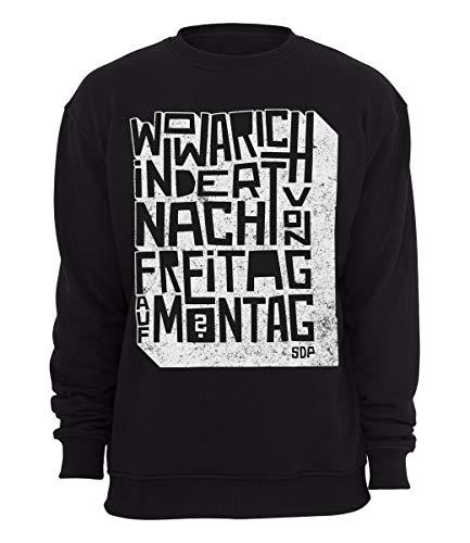 SDP Sweater Freitag auf Montag, Farbe:schwarz, Größe:S