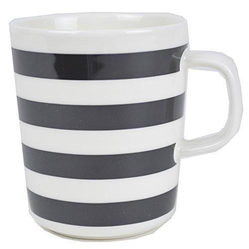 マリメッコ Marimekko マグカップ 250ml 食器 タサライタ Tasaraita 64541 068 ホワイト ブラック [並行輸入品]