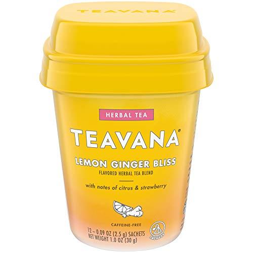 Teavana Lemon Ginger Bliss, Herbal Tea, 12 Sachets, 12Count