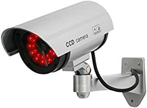 UniquExceptional UDC4silver Fake Security Camera with 30 Illuminating LEDs (Silver)