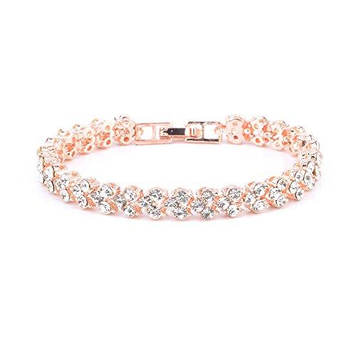ht bracelets HT COLLECTION HeySome Women Crystal Diamond Bangles Bracelets Rhinestone Bracelets