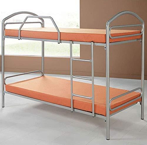 Litera de hierro forjado cama cama litera cama con dosel cama de hierro carta personal del estudiante cama litera en el metal dormitorio armazón de la cama, 80X190
