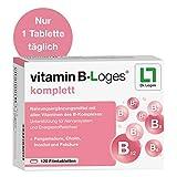 vitamin B-Loges komplett Nahrungsergänzung - 120 Tabletten, Komplex aus allen B-Vitaminen und...