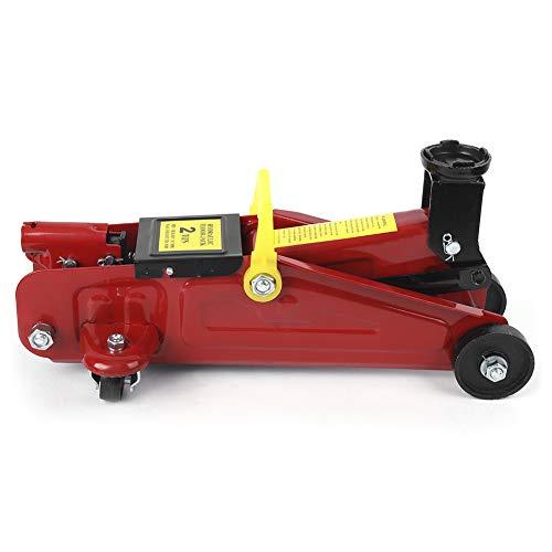 Ejoyous 2T Rangierwagenheber Hydraulisch, hydraulischer Wagenheber mit Sicherheitsventil und Rädern und integriertem Griff, Reifenwechselwerkzeug für die Wartung des Aufzugs