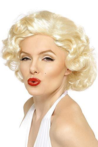 Smiffy's-42206 Licenciado Oficialmente Disfraz Bombshell de Marilyn Monroe, Corta, Color Rubio, Tamaño único (42206)