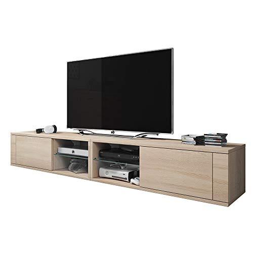 Elegante mobile porta TV lowboard a 2 vani/tavolino per la TV (200cm)