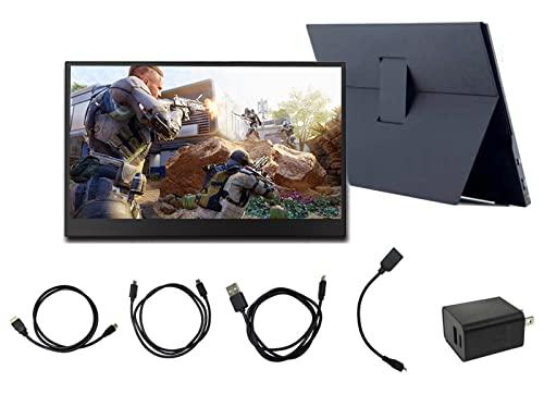 Anbayqg Monitor Portatile da 15.6 Pollici, Full HD 1920X1080 IPS, Computer Mobile PS4 Switch Game Schermo Touch Screen 4K
