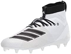 Lightweight cleats built with extra stability Regular fit Lightweight textile upper provides durability High ankle collar for support Tongue and heel pulls for easy on and off; Cleated outsole for traction