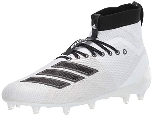 adidas Men's Adizero 8.0 SK Football Shoe White/Black/Grey 11 M US