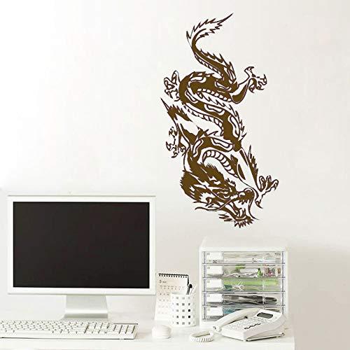 guijiumai Etiqueta engomada del Vinilo del Coche de la Bici del Ordenador portátil Parachoques del dragón Chino calcomanía mítica Animal Living Dormitorio Mural 6 57x104 cm