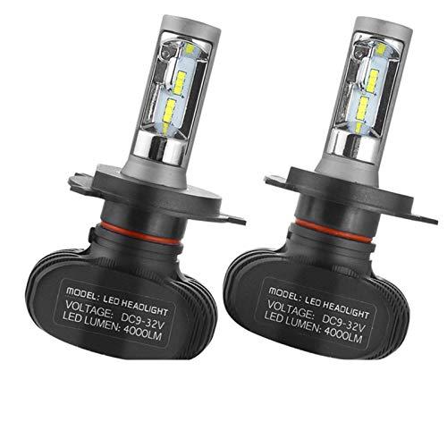 MCYAW 2 unids S1 H11 H4 H7 LED Faro de Coche 8000lm 9005 9006 50W 6500K Lámparas de Bombilla de LED AUTOMÁTICA LED (Socket Type : H7)