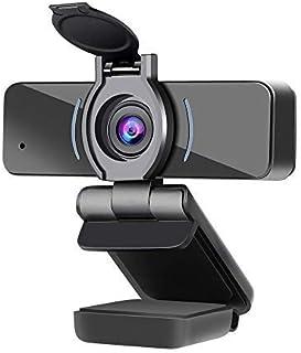 Dericam Cámara Web 1080P con micrófono y Cubierta de privacidad, cámara Web USB para computadora, cámara Web con transmisi...