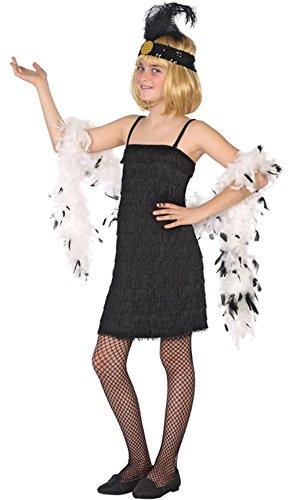 Atosa-39906 Disfraz Charleston, Color Negro, 7 a 9 años (39906)