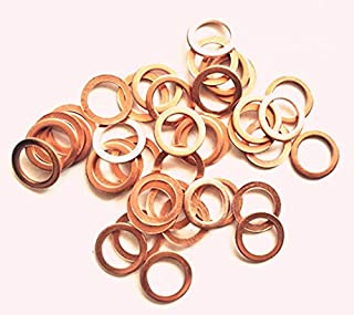 Outer Diameter 18mm Metric Sealing Washer Thickness 1.5mm LUOQIUFA M10 Flat Washer Copper Sealing Ring Inner Diameter 10mm 20 Pieces