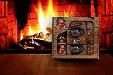 Feuerzangentasse Geschenkset blau Winter- Schatzkiste