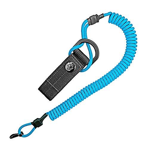 Câble spirale, porte-clés élastique en paracorde, lanyard, porte-clés, sangle de pêche, sangle de prise élastique, support RSG avec mousqueton.
