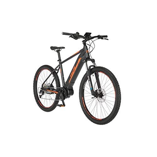 FISCHER E-Mountainbike MONTIS 4.0i, E-Bike MTB, schiefergrau matt, 27,5 Zoll, RH 48 cm, Mittelmotor 50 Nm, 48 V/418 Wh Akku im Rahmen