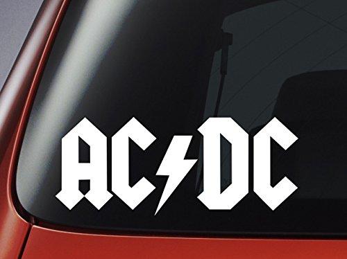 Vinyl Aufkleber–AC DC Logo–Auto, Fenster, Wand, Laptop Aufkleber