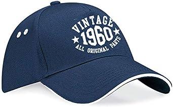 UK Printwear 1960 para hombres Gorra de b/éisbol 60 cumplea/ños dise/ño de a/ños de cumplea/ños
