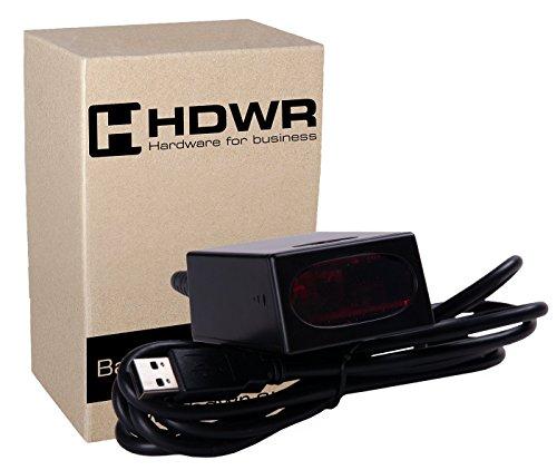 Stationär USB Professional Automatisch Auto Barcode Scanner Scannen Barcode Barcode-Leser Schwarz Advanced Metallgehäuse