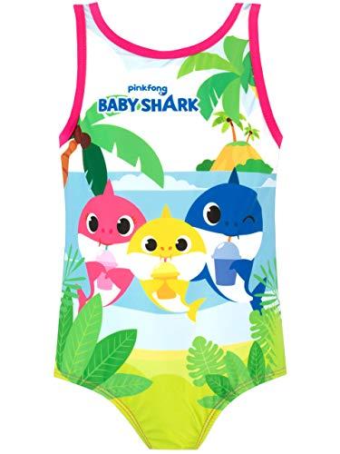 Pinkfong Costume da Bagno per Ragazze Baby Shark Rosa 4-5 Anni
