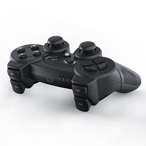 CSL - USB Wireless Gamepad für PC inkl. Vibration Modell - Joypad Controller- Plug and Play - LED-Anzeige - Windows 10 kompatibel