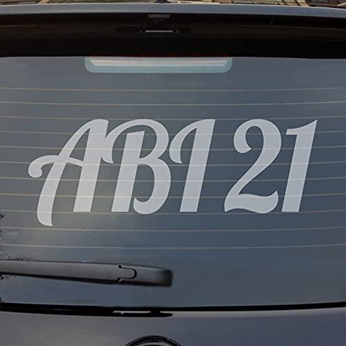 Hellweg Druckerei Heckscheibenaufkleber ABI 21 Abitur 2021 Fun Sticker Auto-Aufkleber