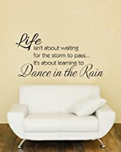 Motivational Art Decal/Dance in The Rain Wall Text Decoration Vinyl Sticker- Black