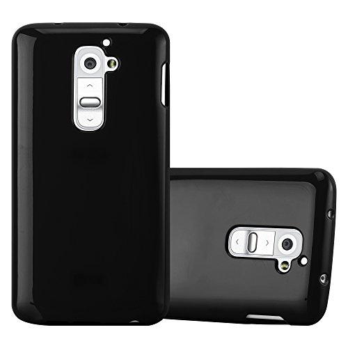 Cadorabo Hülle für LG G2 - Hülle in Jelly SCHWARZ – Handyhülle aus TPU Silikon im Jelly Design - Silikonhülle Schutzhülle Ultra Slim Soft Back Cover Hülle Bumper