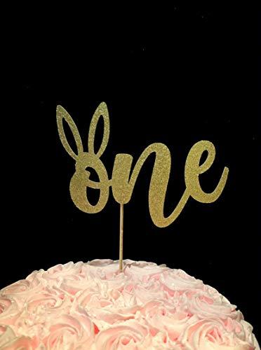 Een Bunny Cake Topper, Bunny Eerste Verjaardag, Sommige Bunny is een, Pasen 1e Verjaardag, Bunny Smash Cake, 1 Jaar Oud, Een Topper met Oren