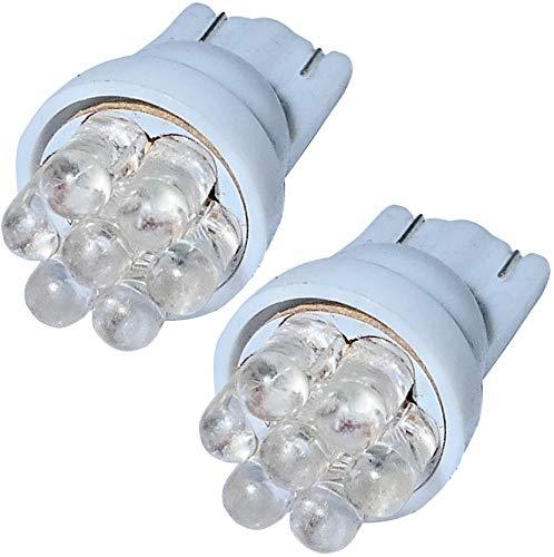 Aerzetix: 2x ampoule T10 W5W 12V 7LED blanc effet xénon veilleuses éclairage intérieur seuils de porte plafonnier pieds lecteur de carte coffre compartiment moteur plaque d'immatriculation minéralogique