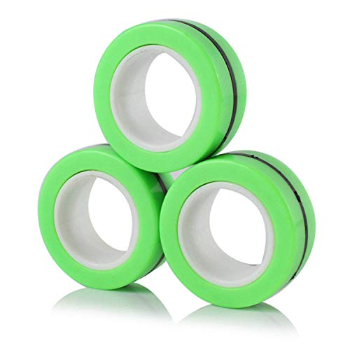 Magnetic Rings Fidget Toy, Freestyle Rolling Finger Fidget Ring for Anxiety, ADHD and Stress, Cool...