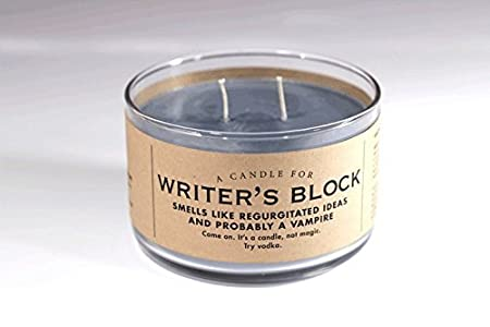A Candle for Writer's Block - BEST SELLER! 17 oz Candle by Whiskey River Soap Co.
