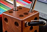 Home Delivered wooden Cube Shape Pen Holder Pencil Holder Dice Pencil Cup Pen Stand/Paper weight/Desk organiser/Office supplies