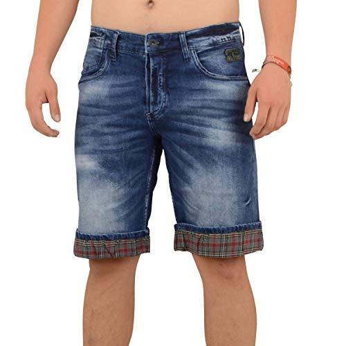 R-Neal Männer Jeans Short Hitton dunkel blau - XL