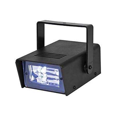Global Gizmos LED Battery Operated Mini Strobe Light, Black