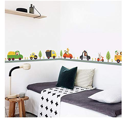 Cartoon Cars Kinderkamer Muurstickers Voor Kinderkamer Jongen Slaapkamer Muurstickers Raamposter 3D Auto Muursticker Behang