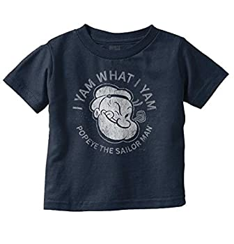 I Yam What I Yam Popeye Sailor Man Toddler Boy Girl T Shirt Navy